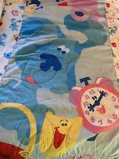 Blues Clues Vintage Full Comforter Bed Spread MADE IN USA GUC