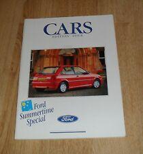 FOLLETO de Ford 1990 Fiesta XR2I Escort Cabriolet Sierra 2000E Granada Scorpio