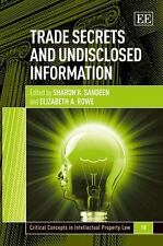 Trade Secrets and Undisclosed Information (Critical Concepts in Intellectual Pro