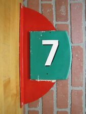 Vintage Miniature Mini Golf Course Hole 7 Flange Double Sided Sign Sports Ad