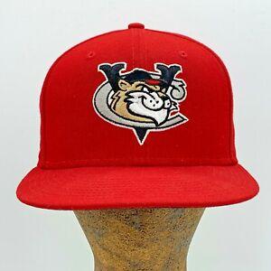 Tri-City ValleyCats MiLB Red Fitted Hat Cap 7 1/8 New Era Genuine Merchandise