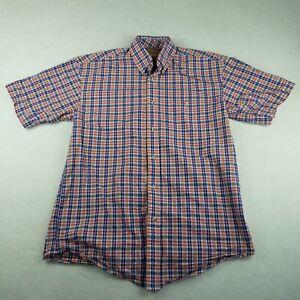Wrangler 20X Multi-Color Plaid Shirt Size Large Western Short Sleeve Button-Down