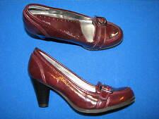8.5 M Bass Ladies Shoes Faux Patent Leather Purple Plum Pattie Pumps Women Heels