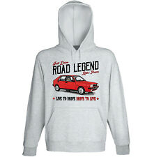LANCIA DELTA 1600 HF TURBO IE - GREY HOODIE - ALL SIZES IN STOCK