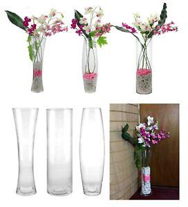 Large Tall Clear Glass Flower Vase Floor Standing Centrepiece Wedding Decor 60cm