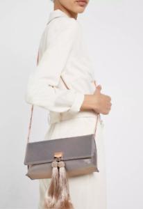 Ted Baker Brocade Tassle Clutch Bag Rose Gold BNWT Designer Womans Accessories