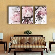 3 40×60×3cm Abstract Pink Stretched Canvas Prints Framed Wall Art Decor Painting