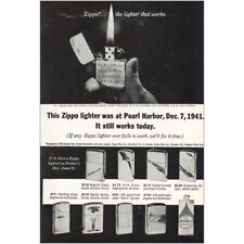 1964 Zippo: This Zippo Lighter Was at Pearl Harbor Vintage Print Ad