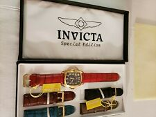 COLLECTIBLE INVICTA MODEL 6406 ORIGINAL BOX AND PAPERWORK SWISS MADE COMPONENTS