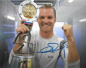 NICO ROSBERG signed 8x10 photo MERCEDES F1