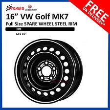 "VW GOLF MK7 2012 - 2018 FULL SIZE STEEL SPARE WHEEL 16""  STEEL RIM"