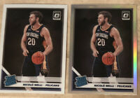 Nicolo Melli RC LOT(2) - 2019-20 Donruss Optic Base & Silver Holo Rated Rookie