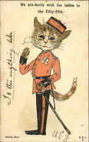 Unsigned Louis Wain Cat in Uniform THE 55th  National Series c1910 Postcard