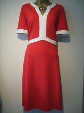 Boden orange and cream dress size 12