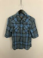 ALLSAINTS Short Sleeved Shirt - Size Small - Check - Great Condition - Men's