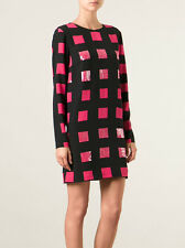 NWT KENZO PARIS Silk Squares Long Sleeve Dress Size 38 $1000 sold out!!!