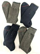 Four(4) Men's Tommy Hilfiger Casual Dress Socks, Navy/Gray, Shoe Size 7-12