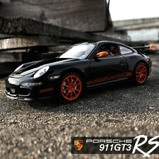 Welly 1:24 Scale Porsche 911 (997) GT3 RS Black Racing Car Diecast Alloy Model