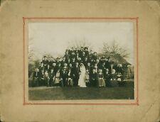 Photo ancienne mariage Manceau mariage de campagne avec coiffes année 1900