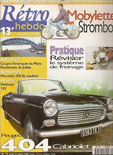 RETRO HEBDO 72 PEUGEOT 404 CABRIOLET MOBYLETTE STROMBOLI 1961 MERCEDES 300 SL RO