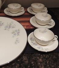 Lenox Maywood Blue Floral H502 Cup & Saucers and Platter