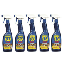 More details for 5x household flea killer spray trigger tick killing home mites cats dogs 500ml
