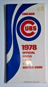 1978 Chicago Cubs Official Press & Media Roster Book/Guide