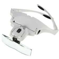 5 Lens Led Headband Magnifier Magnifying Jewelry Watch Repair Eye Loupe Glasses