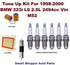 Tune Up Kit for 1998-2000 BMW 323i Denso Spark Plug, Air Filter, Oil Filter