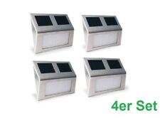 Solar Wandleuchte Edelstahl Dämmerungsschalter Außenlampe Treppenbeleuchtung