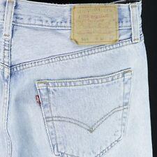 Mens Levis 501 Blue Jeans Button Fly 34x34 Actual 32x32
