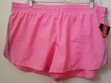 Danskin Now NWT Womens Pink/Gray Running Shorts w/ Liner Size XL (16 / 18)