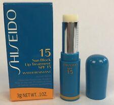 Shiseido Sun Block Lip Treatment SPF 15 Water-Resistant Sunscreen  .10oz
