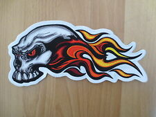 10 Inches Large Embroidery Patches for jacket back Skull Flame Wings