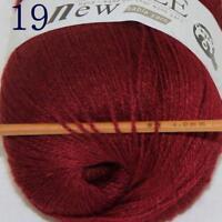 Hot 1ballx50g 100% Pure Sable Cashmere Hand Yarn Shawls Wrap Crochet Knitwear 19