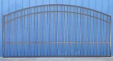 Custom Built Driveway Entry Gate 12ft Wide Single Swing Driveway Gate Steel, Iro