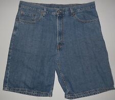 Mens 38 Levis 550 Relaxed Fit Blue Jean Denim Shorts Coin Pocket Red Tag Levi's