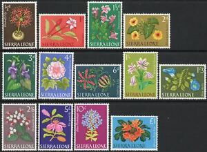 SIERRA LEONE-1963 Flowers Set of 13 Sg 242-254 UNMOUNTED MINT V43230