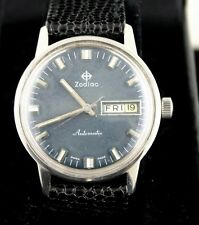 VINTAGE! Zodiac Automatic Stainless Steel Wristwatch with Day/Date window 1960's