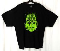 Frankenstein Monster Mens Shirt 3XL Classic Horror Movie Graphic Tee Black Green