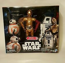 """TARGET EXCLUSIVE STAR WARS THE FORCE AWAKENS 12"""" DROID 3-PACK BB-8 C-3PO R0-4LO"""