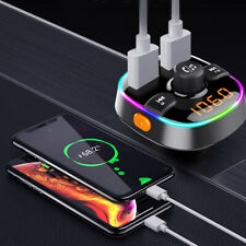 Car Bluetooth 5.0 Fm Transmitter Mp3 Radio Adapter Usb Phone Charger Accessories