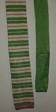 The Tie Bar Lime Green Pink Stripe Stain Resistant Silk Handmade Classic Necktie