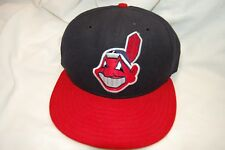Cleveland Indians Chief Wahoo New Era 5950 Pro Model Hat 6 3/4 with Autograph