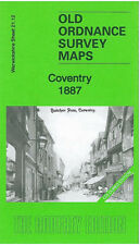 Old map COVENTRY Ordnance Survey 1887 EDIZIONE colorate