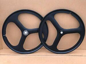 3 Spoke 700c Fixie / Single Speed Road Bike Wheel Front or rear Black