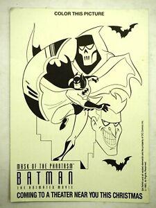 Batman Mask of the Phantasm Movie Promo Color This Picture Handbill 1993