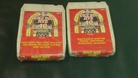 Vintage 8 Track Cassette Cartridge Eight jukebox jive volume 1 and 2