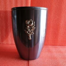 Grey Metal with Silver Rose Emblem Funeral Cremation Ashes Urn for Adult (739A)