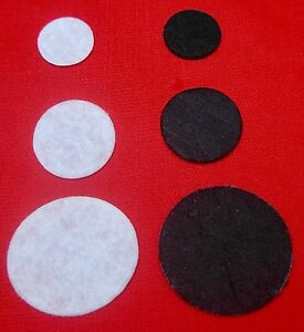 FELT DIE CUT CIRCLES - (SEWING, CRAFTS, CARD MAKING, TOY MAKING, QUILTING, EYES)